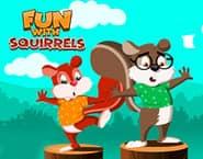 Spaß mit Eichhörnchen